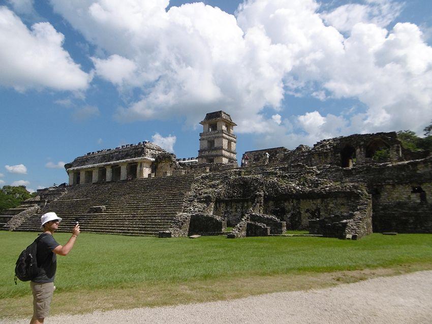 Palais de Palenque au Mexique.