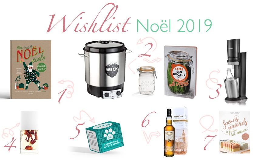 Ma wishlist ou liste de souhaits pour Noël 2019.