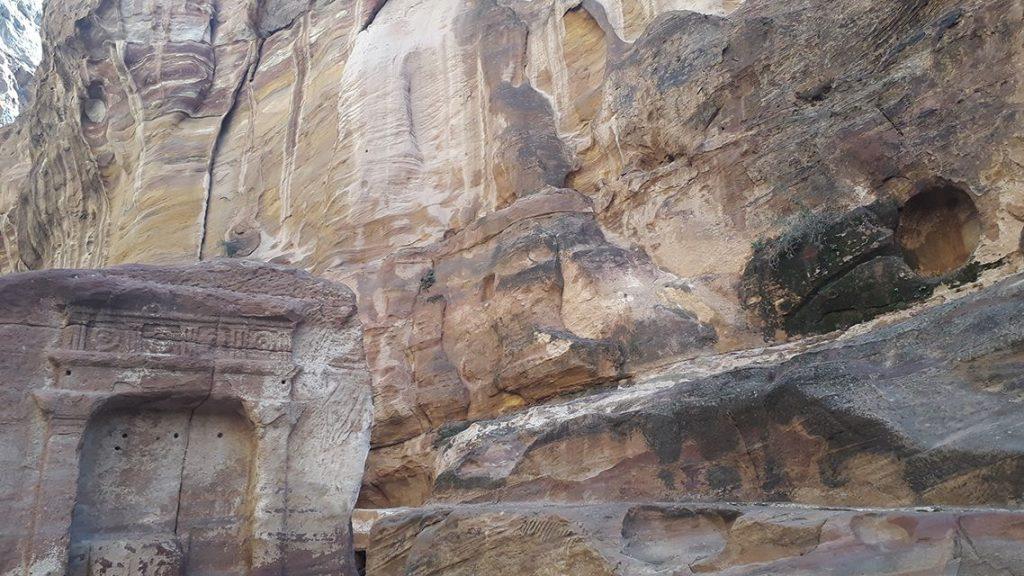 Siq de Petra en Jordanie.