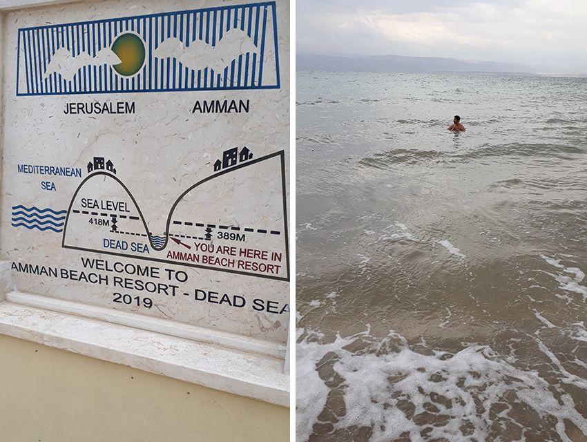 Se baigner dans la mer morte, en Jordanie.
