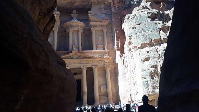 Découverte du trésor à Petra en Jordanie.