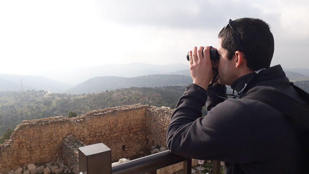 Panorama sur le Jourdain depuis la forteresse d'Ajloun en Jordanie.