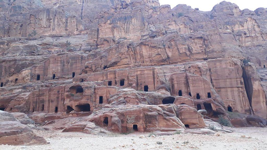 Tombeaux de la cité nabatéenne de Petra en Jordanie.