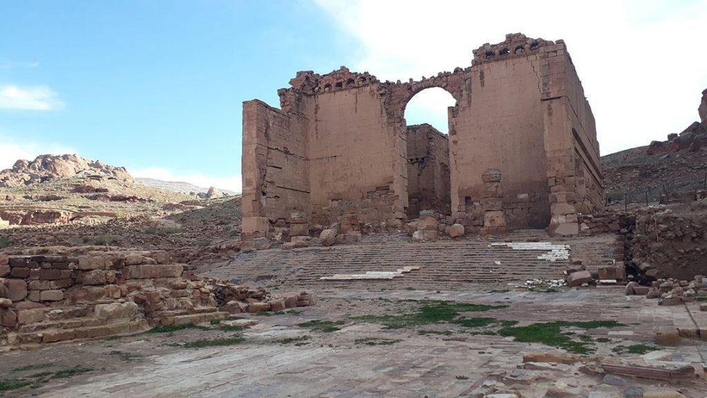 Grand temple de Petra en Jordanie.