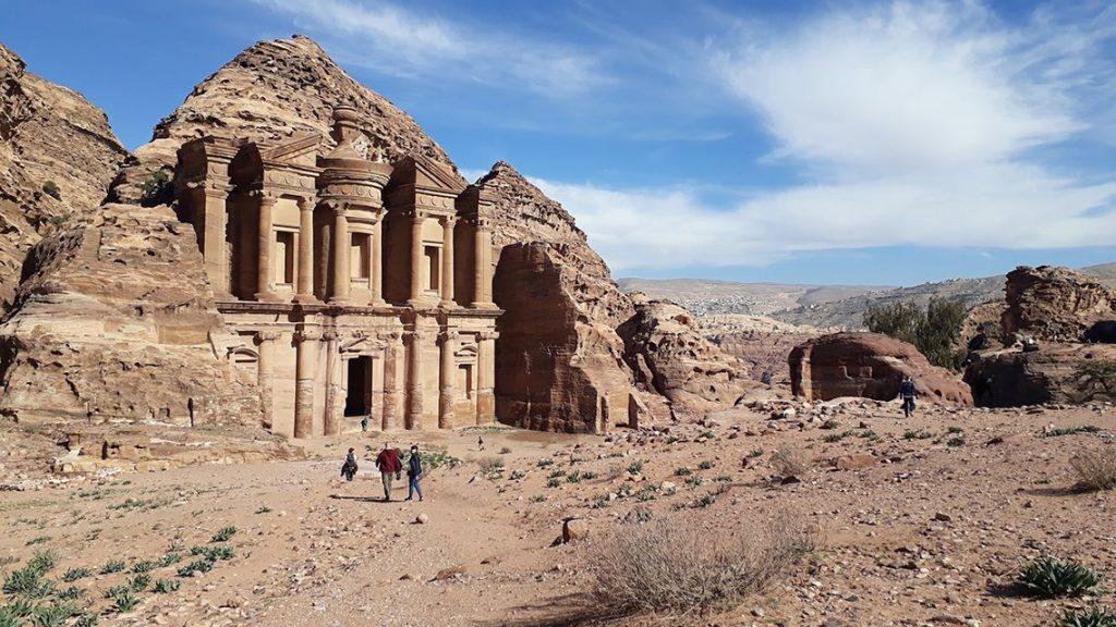 Le monastère (al-deir) à Petra, en Jordanie.