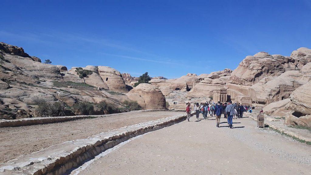 Petra, cité nabatéenne en Jordanie.