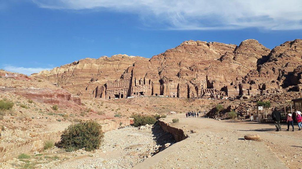 Tombes royales de la cité nabatéenne de Petra en Jordanie.