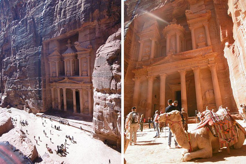 Nouvelle merveille du monde en Jordanie, Petra.