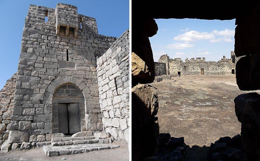 Qasr Al Azraq château du désert en Jordanie.