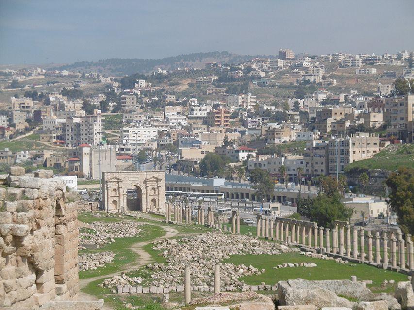 Ruines romaines de Jerash en Jordanie.
