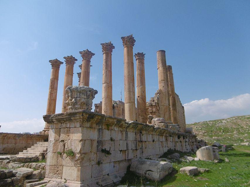 Temple d'Artemis à Jerash en Jordanie.