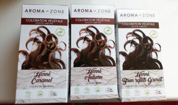 Coloration végétale naturelle d'Aroma-zone.