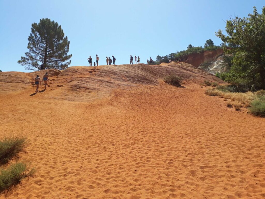 Sentier des ocres du colorado provençal à Rustrel.