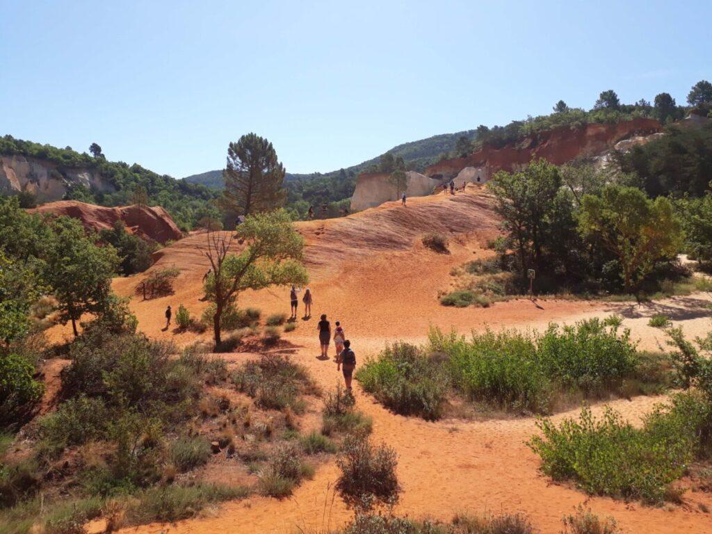 Colorado provençal visite du sentier des ocres.