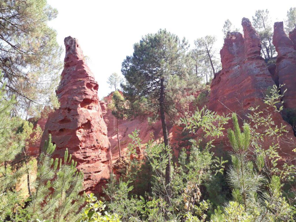 Carrière des ocres du Roussillon.