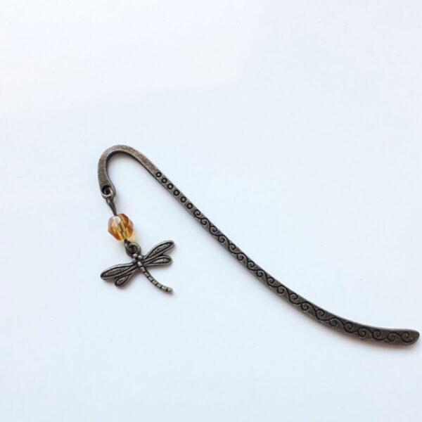 Marque page libellule en laiton bronze par Divine et Féminine.