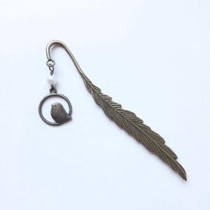Marque page oiseau métal bronze par Divine et Féminine.