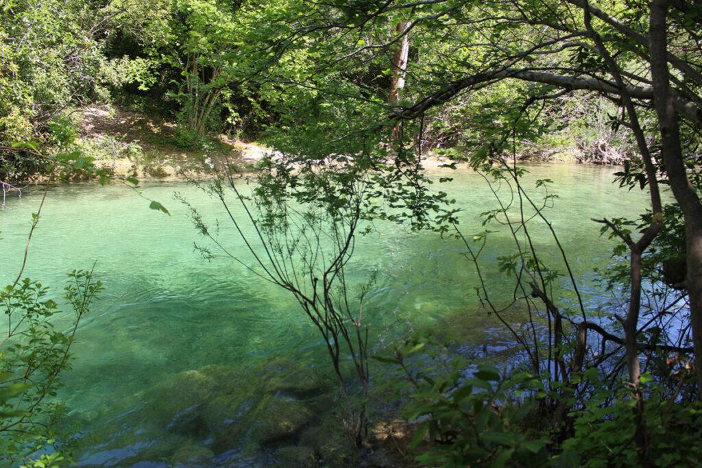 Baignade dans les Gorges de la Siagne.