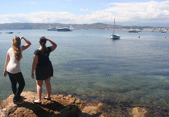 Look à deux sur le port de l'olivette au Cap d'Antibes