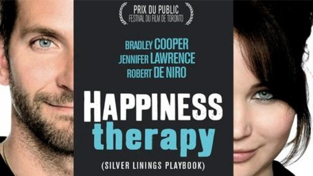 affiche du film Happiness Therapy avec Bradley Cooper et Jennifer Lawrence