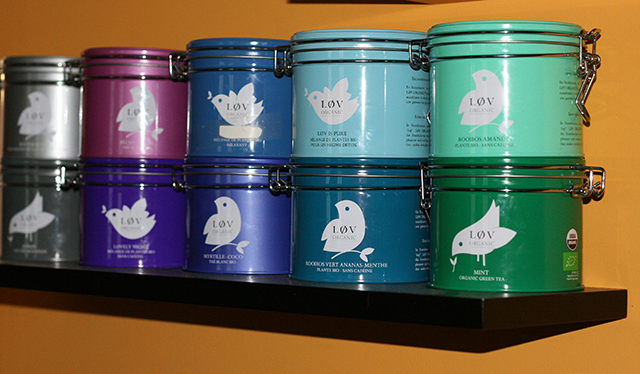Boites colorées de thé bio Lov Organic