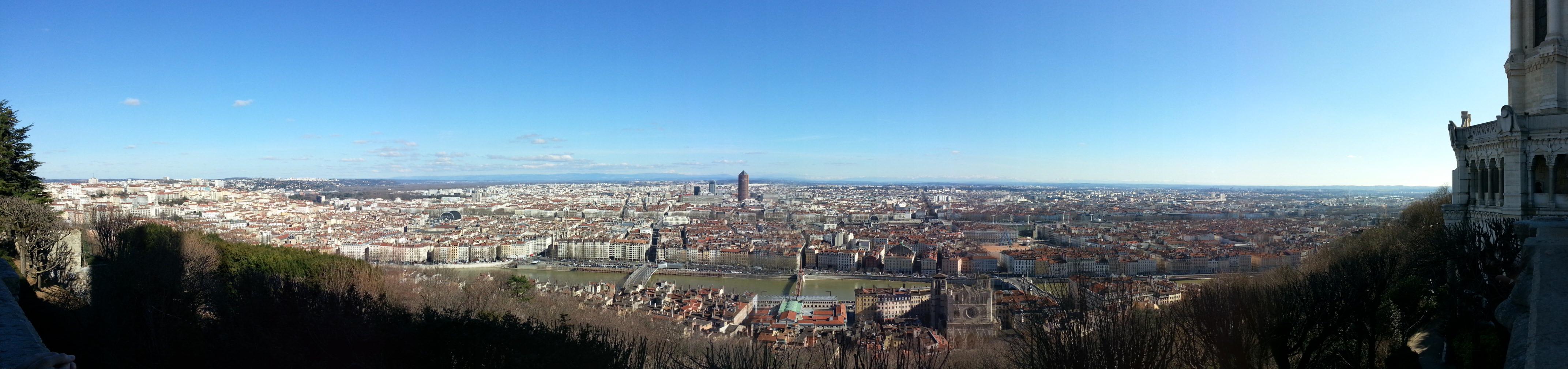 Visiter Lyon en 2 jours, vue panoramique depuis fourvière